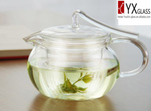 500ml Heat-Resistant Borosilicate Glass Flower Blooming Teapot with Glass Lid and Filter/Glass Tea Maker/Glass Tea Kettle pictures & photos