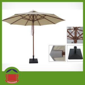 Round Shape 3m Round Side Post Umbrella pictures & photos