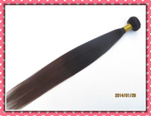 "Unprocessed Brazilian Virgin Hair Extension Natural Straight Hair Weave 22"" Ombre Color pictures & photos"