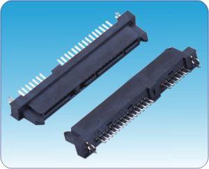 7+15p Female DIP Double Row Pin SATA Connector