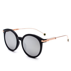 Women Vintage Retro Round Frame Mirror Lens Sunglasses pictures & photos