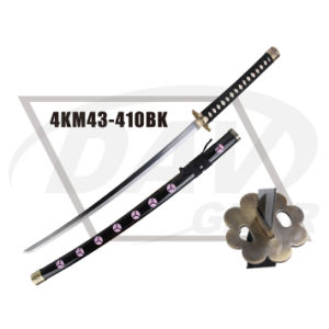 "40.55""Overall Wood Handle Katana with Carbon Steel Polished Blade: 4km98-405bl pictures & photos"
