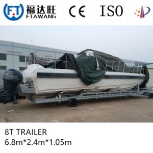 Heavy Duty Three Axles Boat Trailer with Roller /Bank pictures & photos