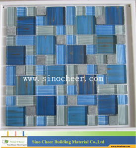 Blue Crystal Glass Mosaic Tile pictures & photos