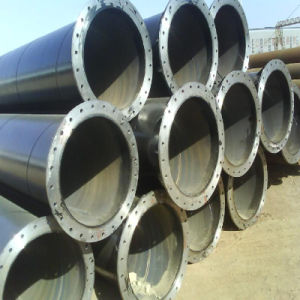 Carbon Spiral Steel Pipe with Flange End and Painted Surface pictures & photos