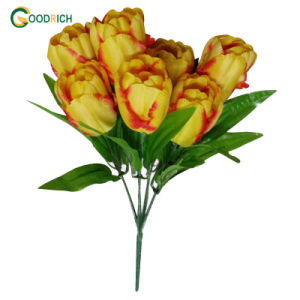 Silk Tulip Bush with 7 Heads pictures & photos