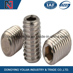 12.9 Grade Carbon Steel Hexagon Socket Set Screw with Flat Point pictures & photos