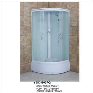 Tempered Fabric Glass Sliding Door Shower House pictures & photos