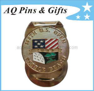 Metal Golf Soft Enamel Money Clip with USA Flag (Golf-26) pictures & photos