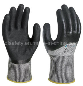 Knuckle Dipping Work Safety Glove with Sandy Nitrile (ND8062) pictures & photos
