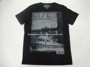 Men′s Fashion Pigment Print Shirt
