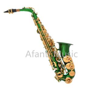 Green Color Student Alto Saxophone (AAS001GR) pictures & photos