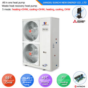 New Zealand Type 2.5kw 150L, 3.5kw 260L, R134A Save70% Power Max 60deg. C Hot Water All in One Heat Pump Air Water Heater pictures & photos