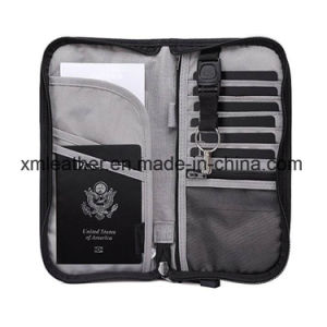 Fabric Document Organizer Case Passport Protect Wallet with Outside Pocket pictures & photos