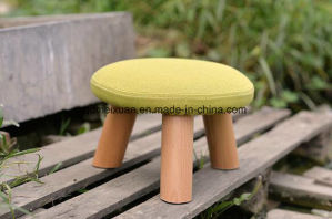 Solid Wooden Stool Round Stool Fabric Stool (M-X2583) pictures & photos