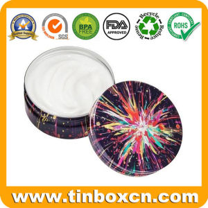 Round Metal Tin Cosmetic Can for Skin Cream Balm pictures & photos