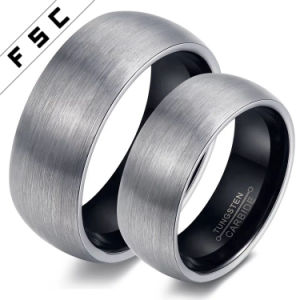 Unique Simple Tungsten Steel Claddagh Couple Rings pictures & photos
