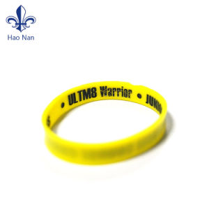 Manufacture Production Silicon Wristbnad with Debossed pictures & photos