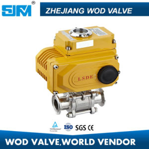 3PC Sanitary Electric Ball Valve pictures & photos
