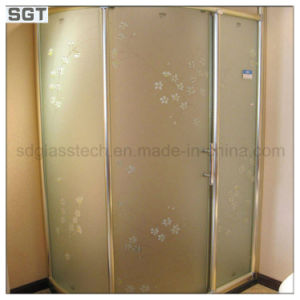 Decoration Acid Etched Office Partition Frosted Shower Door Glass pictures & photos