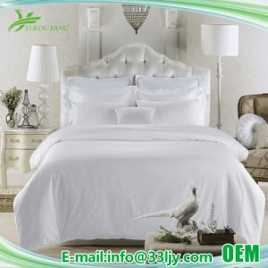 Hotel Apartment Satin Luxury Cotton Bed Sheet Set pictures & photos