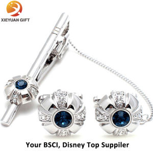 Blue Crystal Tie Clip and Cufflinks pictures & photos
