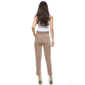 OEM 2017 Hot Sale Women Chiffon High Waist Harem Pants Bow Tie Drawstring Sweet Elastic Waist Pockets Casual Trousers Pantalones pictures & photos