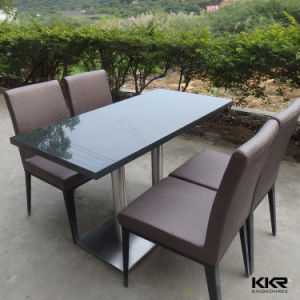 Kfc Mcdonald Dining Table Acrylic Solid Surface Round Table pictures & photos