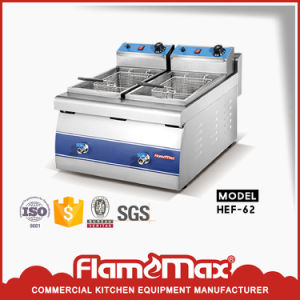 Hot Saling Free Standing 1-Tank 2-Basket Electric Fryer (HEF-84) pictures & photos