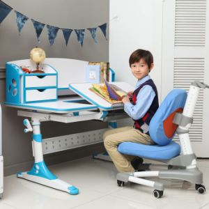 Wooden Adjustable Student Kids Multifuntion Table Study Desk with Cabinet pictures & photos