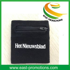 Cotton Wristbands Sweatbands with Zipper Pocket pictures & photos