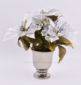 Kinds of Artificial Christmas Hydrangea with Electroplate Ceramic Pots for Holiday Decoration pictures & photos