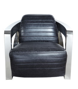 Hotel Furniture, Single Chair, Black Leather Chair, R Factor Chair Yh-213 pictures & photos