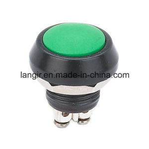12mm Green Color Waterproof Metal Push Button Switch pictures & photos