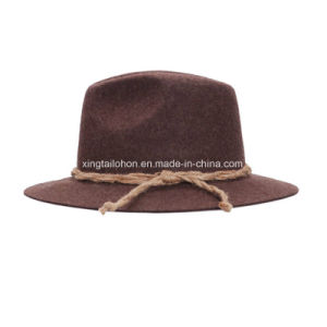 Top Quality Wool Felt Germany Mountain Hat Cowboy Hat for Man