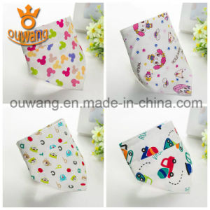 New Design China Supplier Cheap Cotton Unisex Triangle Bandana Baby Bibs pictures & photos