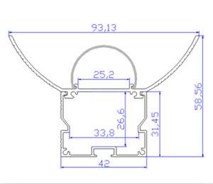 LED Aluminium Extrusion Profile pictures & photos