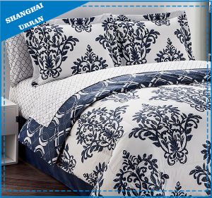 Victoria Design Navy Premium Cotton Duvet Cover Bedding pictures & photos
