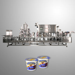 100 Ml Yogurt Cup Automatic Filling Sealing Machine pictures & photos