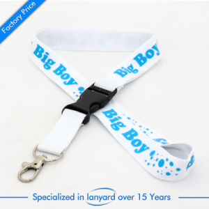 Customized Flat Polyester Lanyard Gift pictures & photos