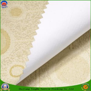 Home Textile Flocking Waterproof Flame Retardant Blackout Woven Jacquard Fabric for Window Curtain pictures & photos