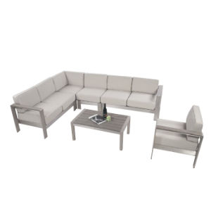Family Expenses Outdoor Furniture Leisure Fashion Hotel Gray Aluminum Combination Corner Sofa pictures & photos