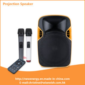 Professional Outdoor Mobile Wireless Loud USB LED Projector Speaker pictures & photos