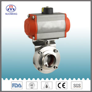 Stainless Steel Horizontal Type Pneumatic Welded Butterfly Valve (DN11851) pictures & photos