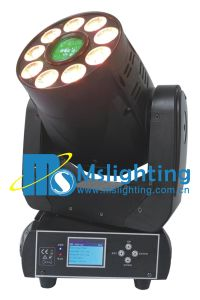 New Design 75W White +9*18W Rgbwap 6in1 LED Moving Head Light (Spot+Wash) pictures & photos