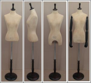Fabric Wrapped Female Mannequin with Head