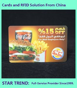 Spot Varnished PVC Card with Magnetic Stripe for Cafeterias pictures & photos