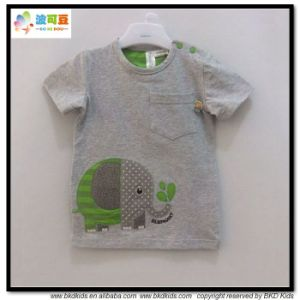 Combed Cotton Baby Clothes O-Neck Baby Tshirts pictures & photos