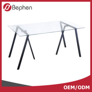 OEM Glass Top Desk Office Furniture Desk Glass Computer Desk 2005
