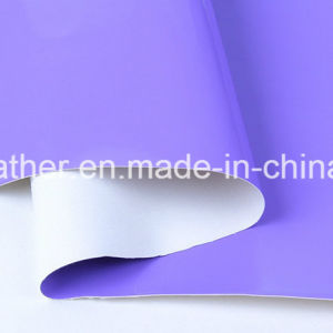 Mirror Patent Synthetic PU Leather for Ladies Shoes Hw-S1704 pictures & photos